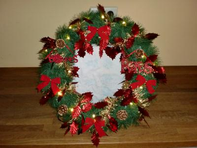 Cr ation couronne de no l mes d corations de noel 2012 - Creation decoration de noel ...