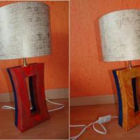Fabrication lampe de chevet en carton
