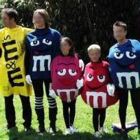 Création de déguisements : Les M&M's et leur sachet !