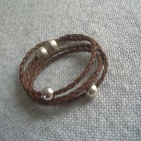 Fabrication bracelet multi rangs simili cuir tressé