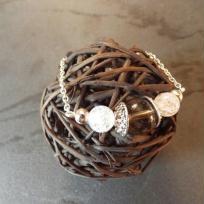 Création bracelet quartz fumé et cristal de roche craquelé