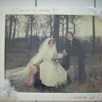 Création cadre thème mariage blanc