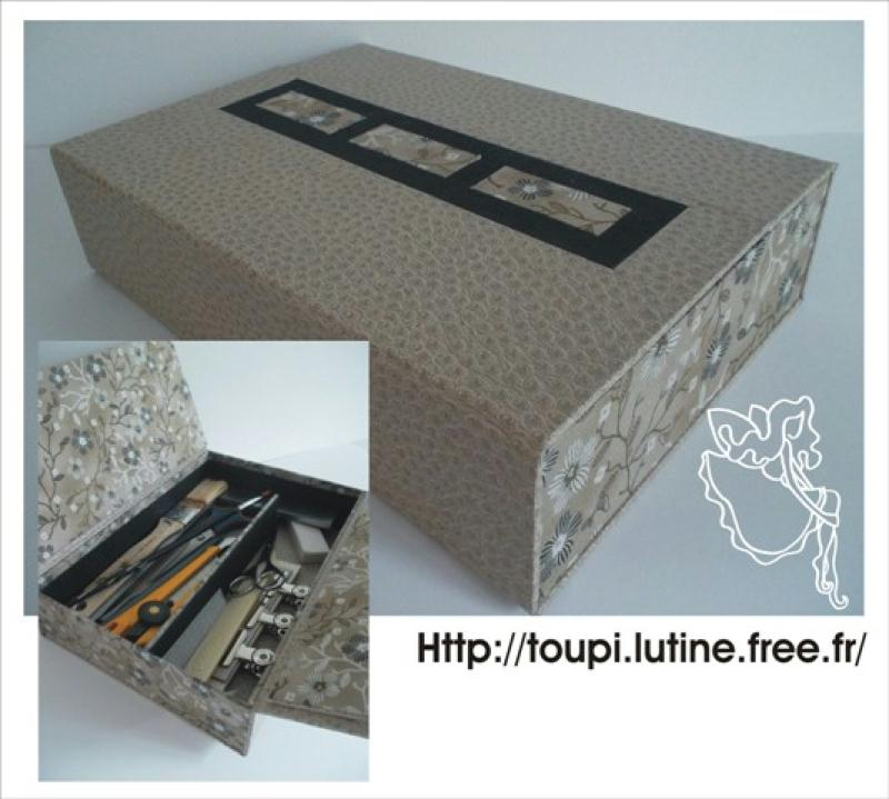 cr ation d 39 une mini bo te outils pour le cartonnage cr ations meuble en carton de toupi. Black Bedroom Furniture Sets. Home Design Ideas