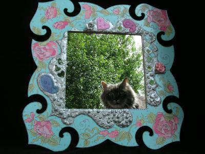 Fabrication miroir romantique bleu ciel cr ation home - Fabrication d un miroir ...