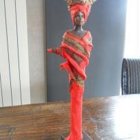 Décoration : Africaine ton orange