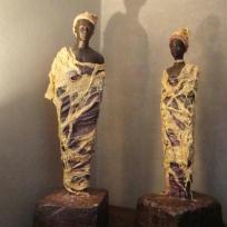 Fabrication Couple d'africains en powertex
