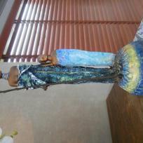 Fabrication buste masai et enfant sur socle