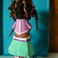Fabrication poupée fofuchas Aglaé et sa sucette, vue de dos