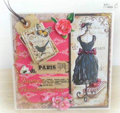 Cartes de couture vintage