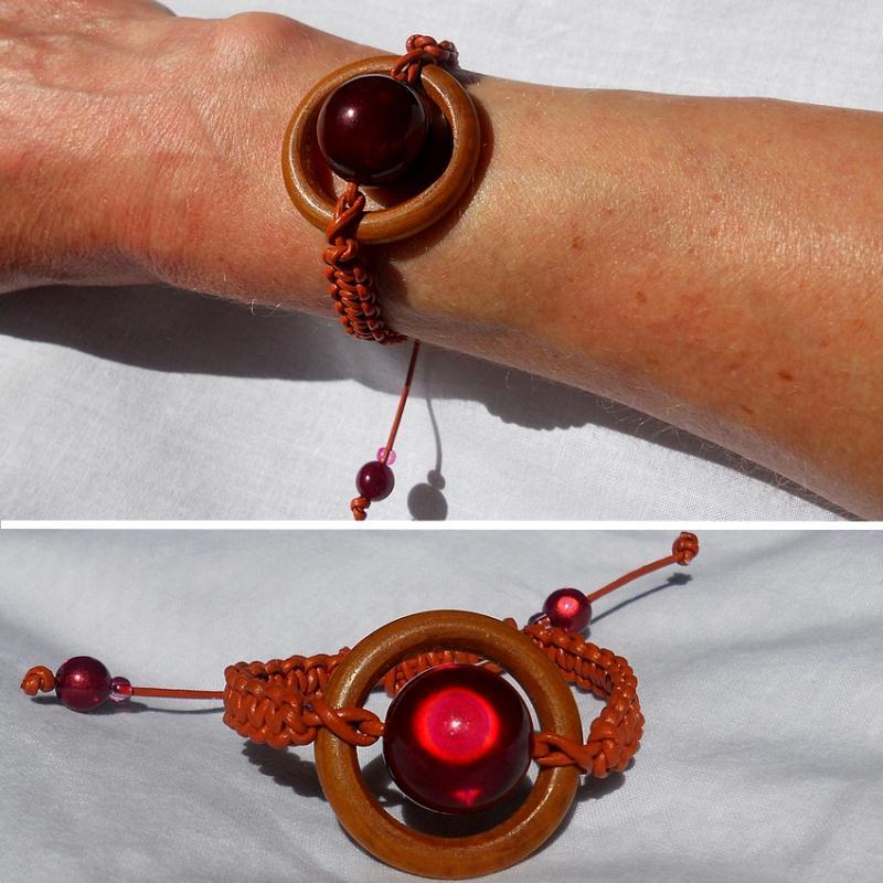 fabrication bracelet cordon de cuir et bois cr ations perles et bijoux de paucile n 50152 vue. Black Bedroom Furniture Sets. Home Design Ideas