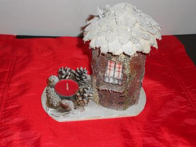 Decoration Noel Maison En Balsa