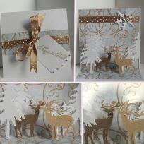 Création d'une carte de Noël avec paysage en pop-up