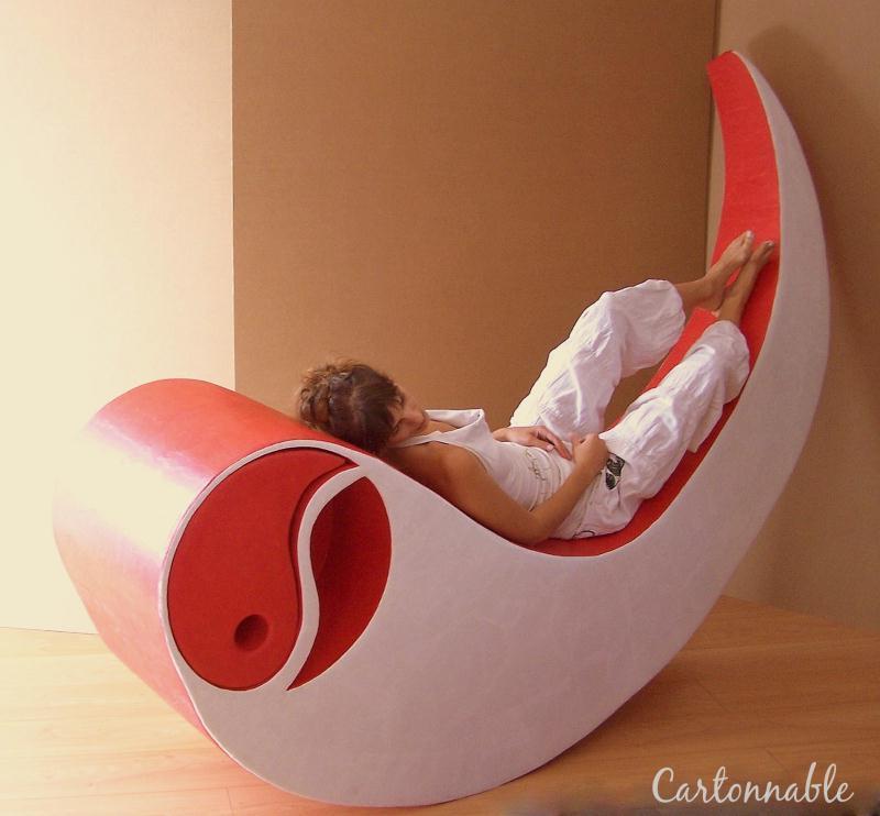 Cr ation d 39 un fauteuil en carton cr ations meuble en - Meuble a chaussures en carton ...