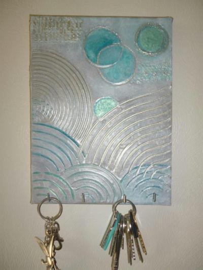 Cr ation d 39 un tableau porte cl fs original cr ation home d co et miroir - Creation tableau deco ...