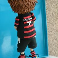 Création poupée fofuchos rugbyman du stade toulousain