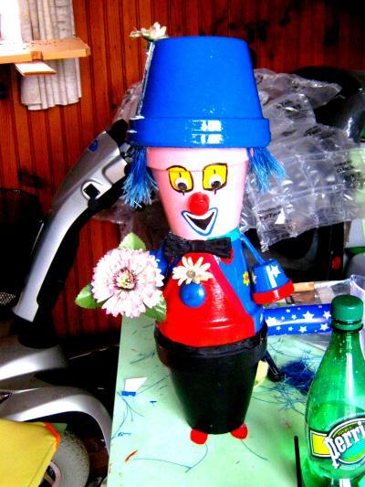 Cr ation mes bonhomme en pot de terre cuite cr ation personnage en pot de isabelle7820 n - Comment faire des personnages en pots de terre cuite ...