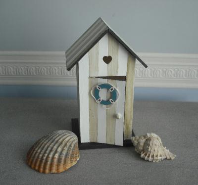 cr ation cabine de plage en bois peint cr ation maquettes et miniatures de nicole815 n 53 135. Black Bedroom Furniture Sets. Home Design Ideas