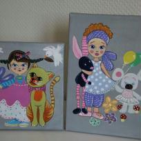Création de petits tableaux pour chambre d'enfants