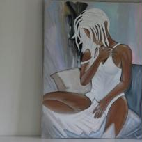 Toile d'une reproduction peinte à l'acrylique pour moi.