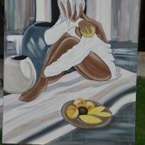Deuxième reproduction de P.Farel sur toile à l'acrylique