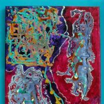 Création d'une peinture framboise peinture abastraite