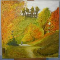 Création d'une peinture acrylique sur toile