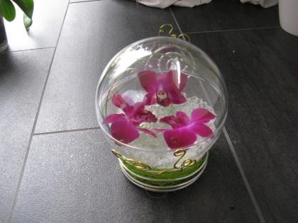 Cr ation d 39 un cadeau dans une boule en plastique for Bambou plastique deco