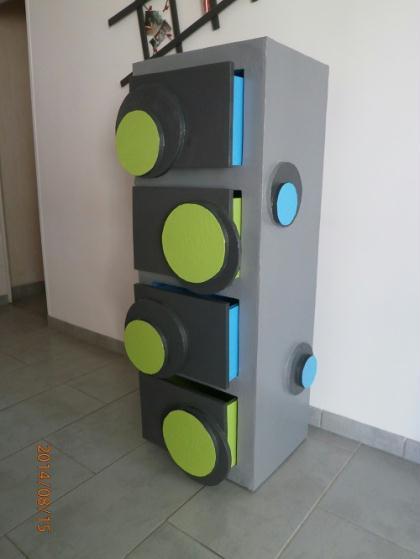 cr ation d 39 une commode en carton bybouli meuble pour enfant en carton cr ation meuble en. Black Bedroom Furniture Sets. Home Design Ideas