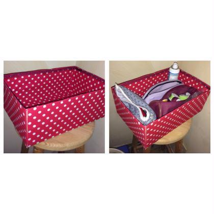 D coration de boite en carton recouvert de tissu cr ation d coration de bo - Decoration boite carton ...