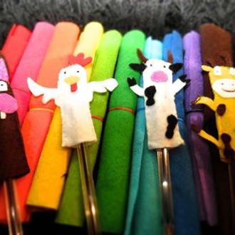 Marionnettes de doigts en feutrine !!