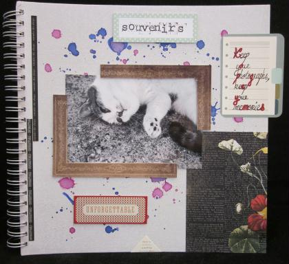 Cr Ation Scrapbooking Couverture D 39 Album Kesi 39 Art
