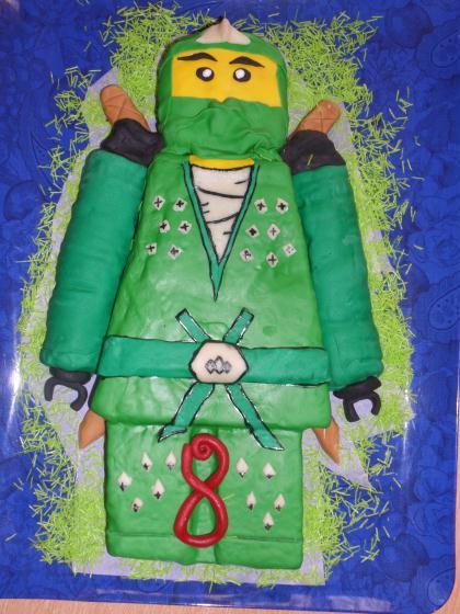 Cr ation d coration g teau anniversaire lego ninja vert cr ation cuisine d corative de huby - Ninja vert lego ...