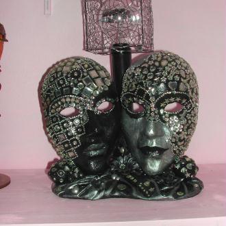 Création Lampe Masque homme et femme