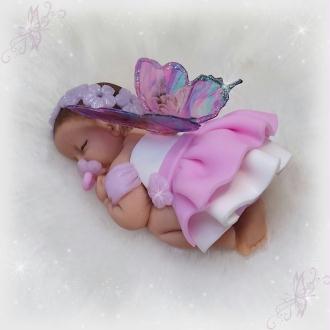 Création d'une Petite fée rose et blanche en pâte Fimo