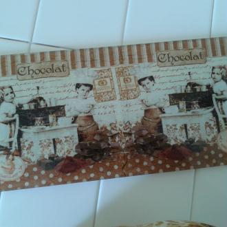 Création plat à cake sur le thème du chocolat