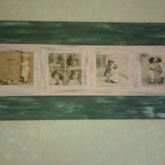 """Création tableau """"Fillettes d'Antan"""""""
