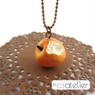 Création collier Pomme croquée par CS Atelier