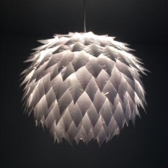 Lampes en papier cartonn cr ation lampes et guirlandes lumineuses de deco - Creation abat jour papier ...