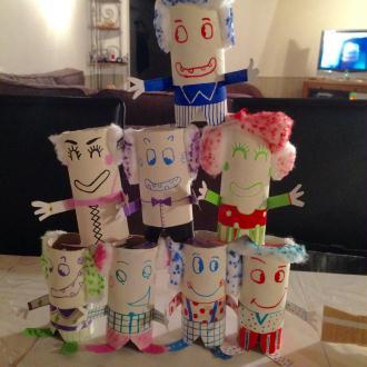 Création chamboule clown pour les enfants