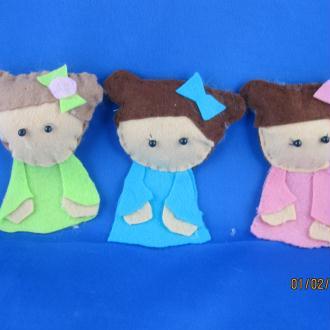 Création Les triplettes fillettes en feutrine
