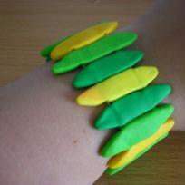 Bracelet vert et jaune