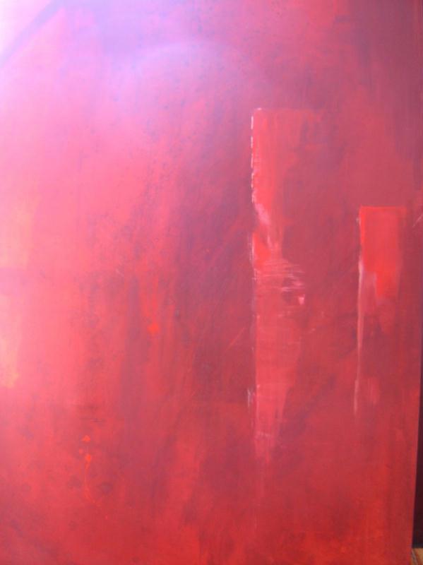 Monochrome rouge - Créations Beaux Arts - Peinture de liline n°860 (Vue 2633 fois)
