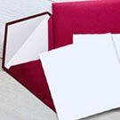 Enveloppe et carte vergée 140 x 140